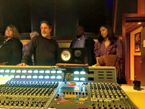 Kelly Cole, Buddy Nelms, Lloyd Buchanan, and Alia Torres at FAME Studios